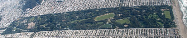 Golden Gate Park and its neighborhood.  Would you trade this for the barren sand dunes that preceded it?  Gnu Free Documentation