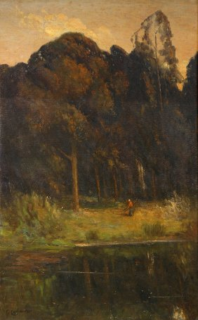 Eucalypti, painting by Guiseppe Cadenasso (1858-1918)