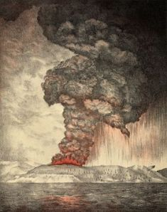 Krakatoa eruption, lithograph 1888