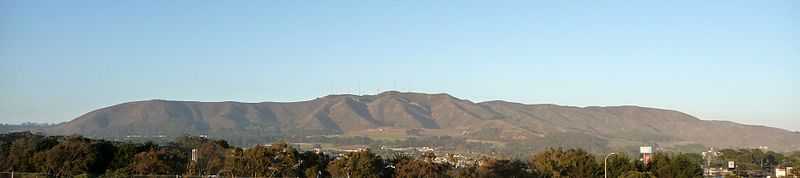 San Bruno Mountain from Daly City. Wikimedia Commons