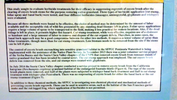 Detail of poster about PUC project, CNPS Conference