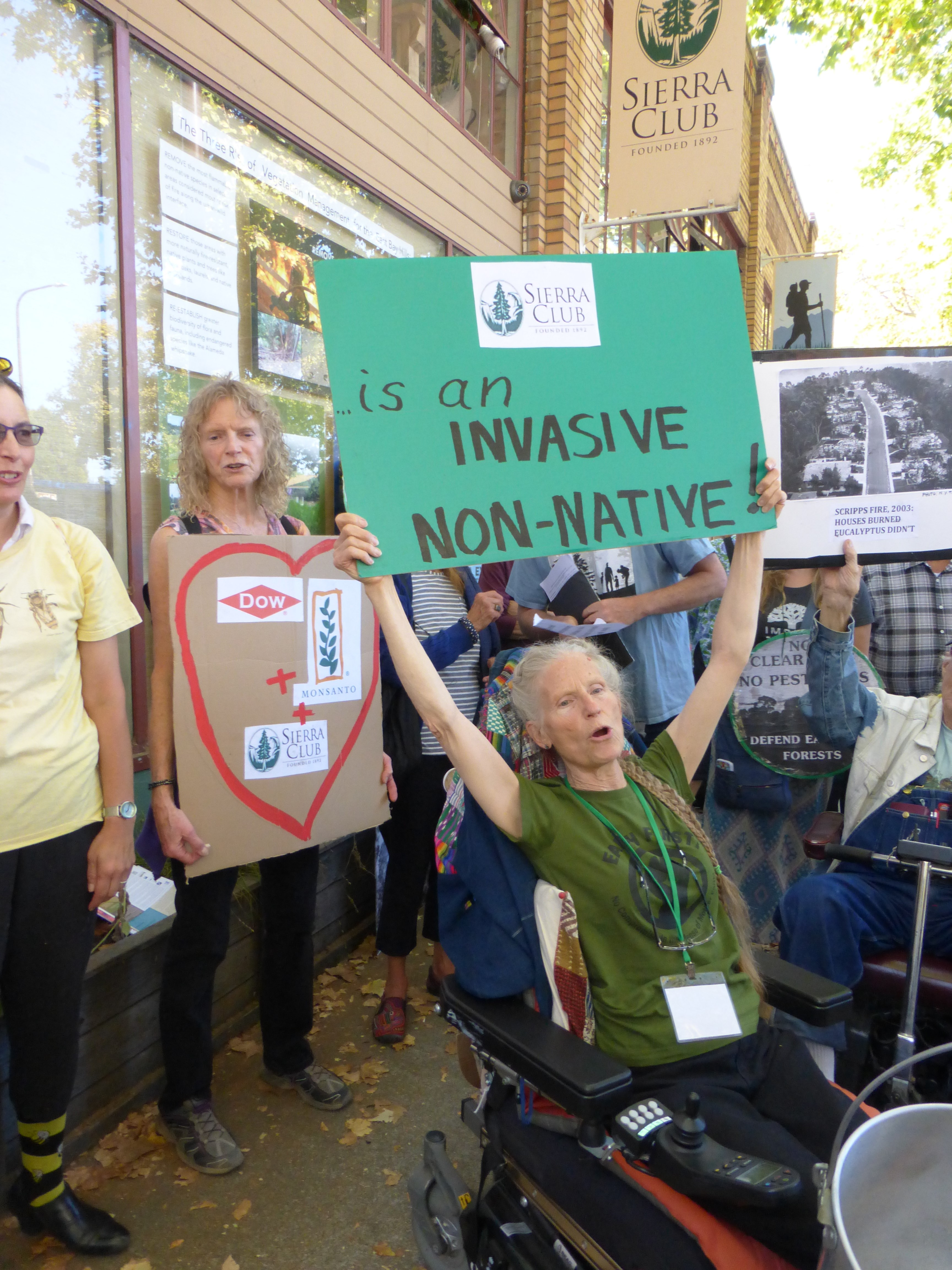Sierra Club protest, August 25, 2015. About 80 people attended the peaceful protest.