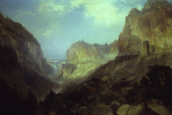 Painting of Yellowstone by Thomas Moran