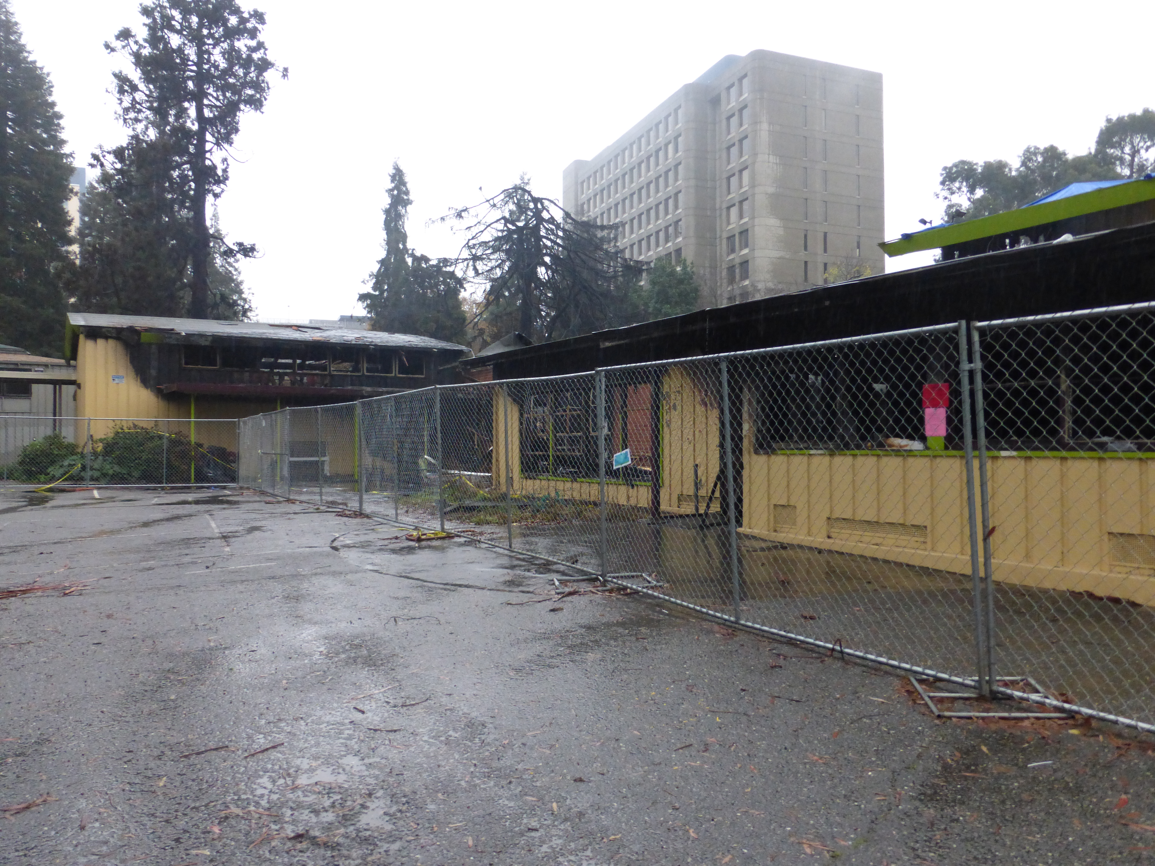 Mosswood Recreation Center was gutted by fire on November 26, 2016